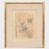 Félician Rops (1833-1898): Title Page for La Chronique