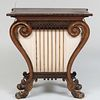 Unusual Regency Brass Inlaid Rosewood and Parcel-Gilt Console Table