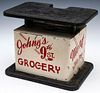 CIRCA 1940 MEAT SCALE FOR JOHNY'S GROCERY, 9TH ST