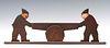 A RARE EARLY 20TH CENTURY CAST IRON BOOT SCRAPER