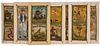 EIGHT RARE HAND PAINTED MINIATURE SIDESHOW BANNERS