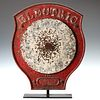 A MANGELS 'ELECTRIC' CAST IRON SHOOTING GALLERY TARGET