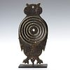 A CAST IRON OWL GALLERY TARGET, MANNER OF EMIL HOFFMAN