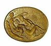 Roman Style Solid Gold Ring with Erotic Scene. 15.7 gm