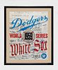Autographed Dodgers and White Sox 1959 World Series Champ Team Signed Poster with 30 Signatures -w/CoA- & $15K APR+