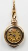 Antique 14K Yellow Gold Pocket Watch W/ Fob Chain