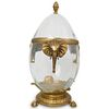 Castilian Imports Crystal and Brass Figural Urn