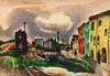 William Samuel Schwartz (American/Russian, 1896-1977) Train Through Town