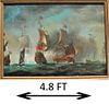 Large European Maritime Ship Battle Scene