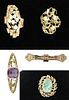 Collection of 5 Brooches