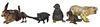 Collection (6) Viennese Diminutive Bronze Animals