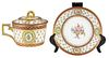 Antique French Gilt & Porcelain Teacup & Saucer