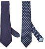 (2) Vintage GG Gucci Men's Ties