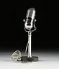 A VINTAGE JAPANESE OLSON M-102 PILL MICROPHONE ON STAND, 1950-1960,