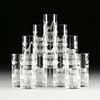 AN ASSEMBLED GROUP OF TWENTY-FIVE GLASSWARES, 2OTH CENTURY,