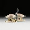 """A PAIR OF BOEHM SCULPTURES, """"Canada Geese,"""" AMERICAN, 20TH CENTURY,"""