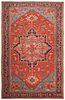 Antique Persian Serapi carpet , 11 ft 4 in x 17 ft 9 in ( 3.45 m x 5.41 m )
