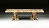 A LARGE MID-CENTURY MODERN ONYX AND ABALONE INLAID RESIN COFFEE TABLE, POSSIBLY ARTURO PANI, CIRCA 1960s,
