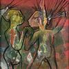 """ROBERTO MATTA (Chilean 1911-2002) A PAINTING, """"Chat-Chat-Chat,"""" 1997,"""