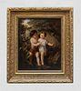 """1500 Giorgio Barbarelli da Castelfranco """"The Children"""" Original Oil on Canvas - $150K Value"""