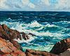 Stanley Wingate Woodward (American, 1890-1970)      Crashing Surf and Salt Air