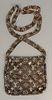 "Louis Vuitton mesh Francis purse handbag, Limited Edition, metallic with monogram, with original box. ht. 7"", wd. 6.5"""