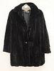 Sheared mink fur coat, Georgeou of Westchester.