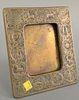 """Tiffany Studios bronze frame, 942 Zodiac pattern, 8"""" x 7""""."""