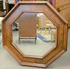 "Burlwood inlaid Octagon mirror, dia. 50""."