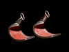 A Pair of Inlaid and Lacquered Iron Stirrups, Abumi