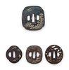 Four Inlaid Iron Tsuba