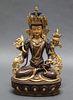Chinese or Tibetan Bronze Quanyin or Tara Figure