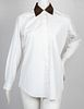Hermes Cotton Dress Shirt W Contrasting Collar