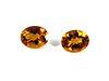 4.80 cttw. Loose Oval-Cut Citrine Stones, 2