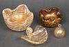 Organic Form Gold Murano Glass Vessels, 4