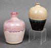 American Studio Ceramic Glazed Vases, Group of 2