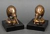 "Odyssey Creations Bronze ""Kiwi Bird"" Bookends"
