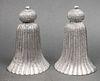 Silver-Tone Tassel Motif Bookends, Pair