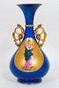 """Poesie"" French Porcelain Mantel Vase"