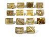 310.6 cttw Emerald-Cut Rutilated Quartz Stones, 14