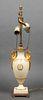 Lenox Empire Vase Table Lamp W Swan Handles