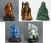 Chinese Carved Hardstone Figures, 5
