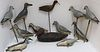 LOT OF TWELVE EARLY 20TH CENTURY SHORE BIRDS AND