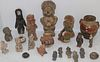 COLLECTION OF TWENTY-ONE PRE-COLUMBIAN STYLE