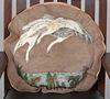 Elizabeth Burton Ornamental Leather-Work Pillow c1905