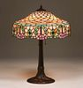 Chicago Mosaic Leaded Glass Lamp c1910