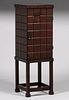 Early Stickley Brothers Copper-Top Cellarette c1902