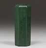 Weller Pottery Matte Green Six-Sided Vase c1910