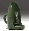 Hampshire Pottery Matte Green Electrified Chamberstick