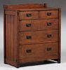 Gustav Stickley #626 Five-Drawer Dresser c1904